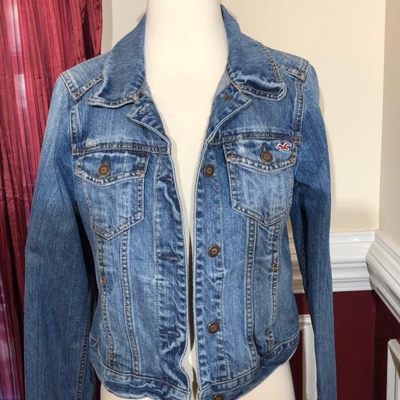 dbcd22b8cb Hollister Jackets   Blazers - Hollister cropped distressed blue jean jacket  ...